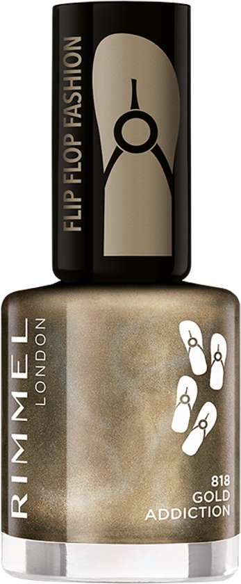 Rimmel 60 Seconds Flip Flop Shades Nail Polish 8ml  818 Gold Addiction