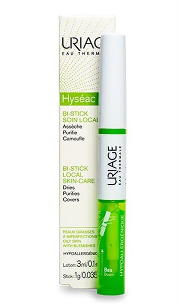 Uriage Hyseac Bi-Stick 3ml 3ml Lotion/ 1 Gr. Stick