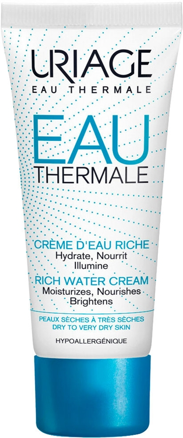 Uriage Rich Water Cream 40ml Dry To Very Dry Skin