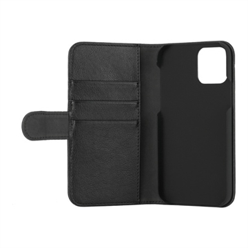 Essentials, iPhone 12/12 Pro, PU wallet, 3 cards, Black