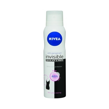 NIVEA ANTI-PERSPIRANT DEDORANT INVISIBLE BLACK & WHITE WOMEN 150ML