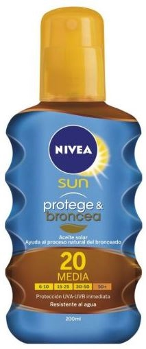 Nivea Sun Solar Oil Spray 200 ml SPF 20 Protect & Bronze
