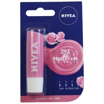 Nivea Lip Balm - Soft Rose 4.8 gr
