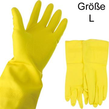 Rubber Gloves Large Latex W/ Lining