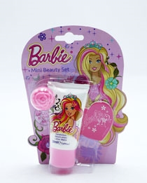Barbie Gift Set Lotion Lipgloss File & Ring