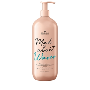 Schwarzkopf BC MAD ABOUT WAVES CLEANSER SULF FREE 1L