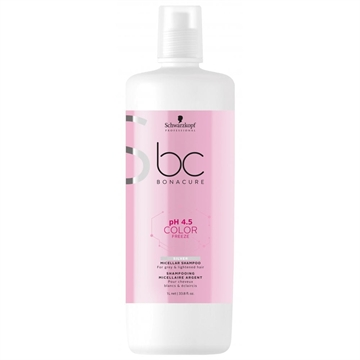Bonacure Color Freeze Silver Shampoo 1000ml Ph 4,5 For Grey & Lightened Hair