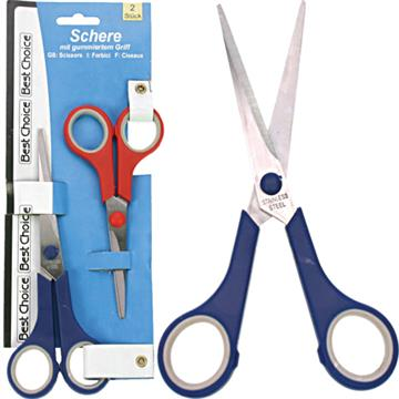 Scissors Quality 2' 17+14cmW/Rubber Grip