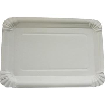 Party Plates 10' 16X23cmWhite Shrink-Wrapped