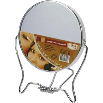 Mirror 2-sided w/ Stand 9.5cm out of Metal