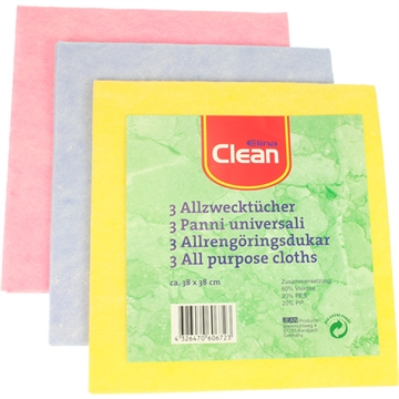 All Purpose Cloth Clean 38X38cm3Pc Pack