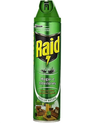 Raid Spray Insecticide 600g Flies And Mosquitoes Home And Plants