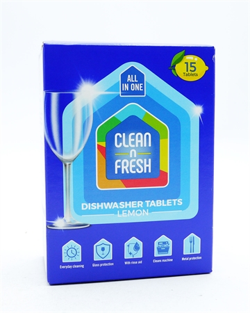 Clean & Fresh Dishwasher Tablets Lemon 15's