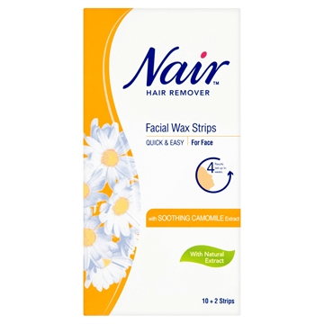 Nair Facial Wax Strips 12's