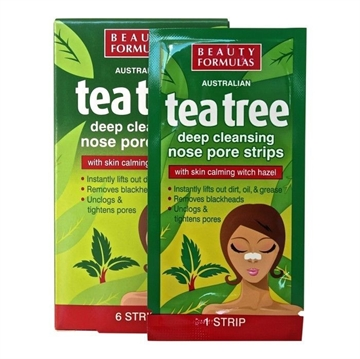 Beauty Formulas Pore Strips Tea Tree 6's