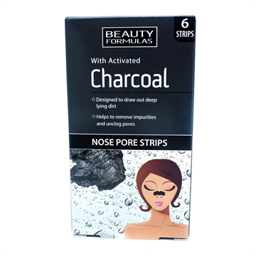 Beauty Formulas Charcoal Nose Pore Strips 6's