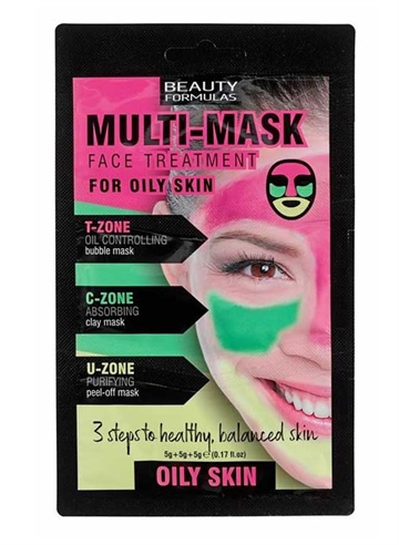 Beauty Formulas Multi Mask For Oily Skin 15G