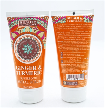 Beauty Formulas Ginger&Turmeric Facial Scrub 150ml