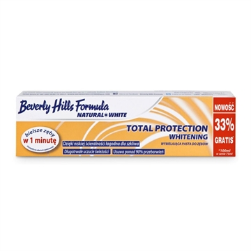 Beverly Hills Formula 100ml Natural White Toothpaste Total Protection Whitening