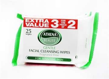 Athena Face Wipes Sensitive 25 '