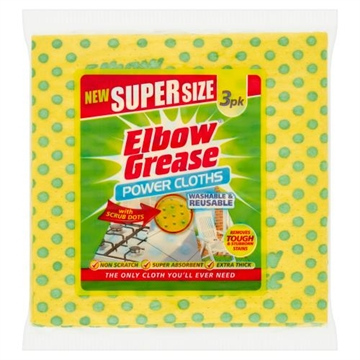 Elbow Grease Supersize-Tyg 3 St.