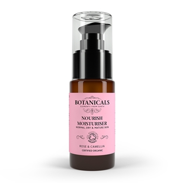 Botanicals Natural Organic Skincare Nourish Moisturiser Rose Camelia 30ml Normal, Dry And Mature Skin