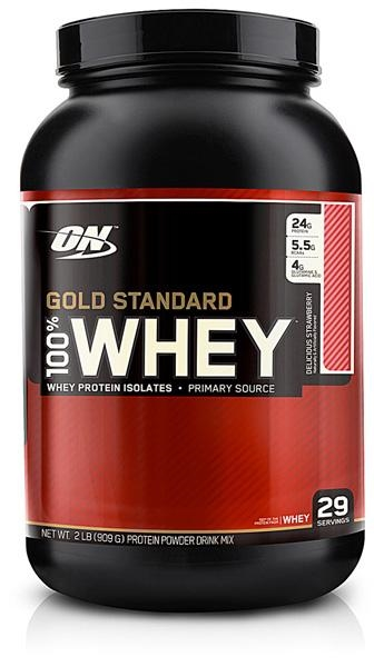 Optimum Nutrition 100% Whey Gold 908g delicious strawberry