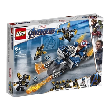 LEGO SUPER HEROES MARVEL AVENGERS CAPTAIN AMERICA: Outrider-Attacke 76123