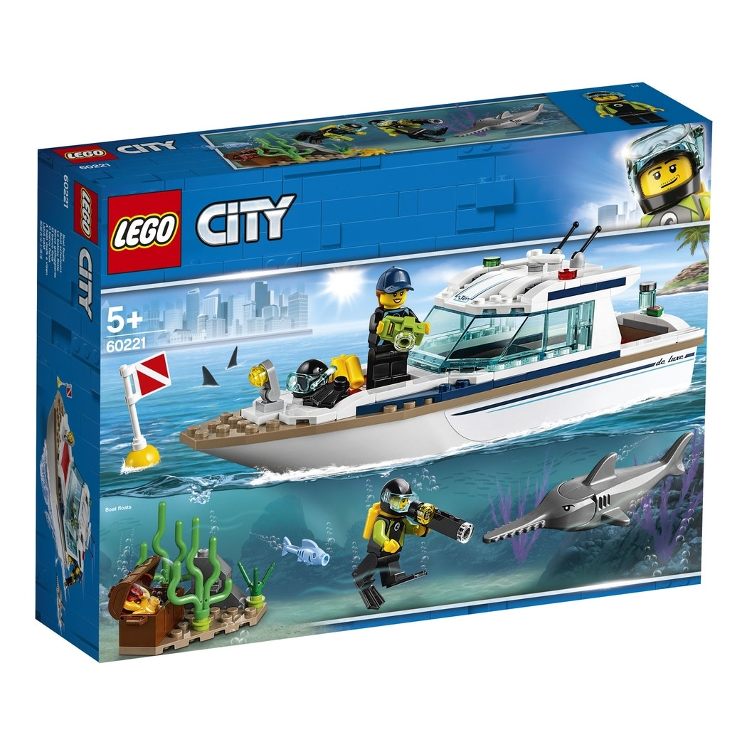 LEGO City Great Vehicles 60221 Diving Yacht