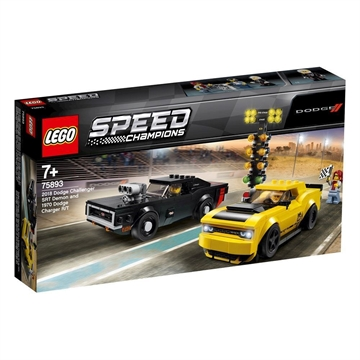 LEGO Speed Champions 75893 2018 Dodge Challenger SRT Demon and 1970