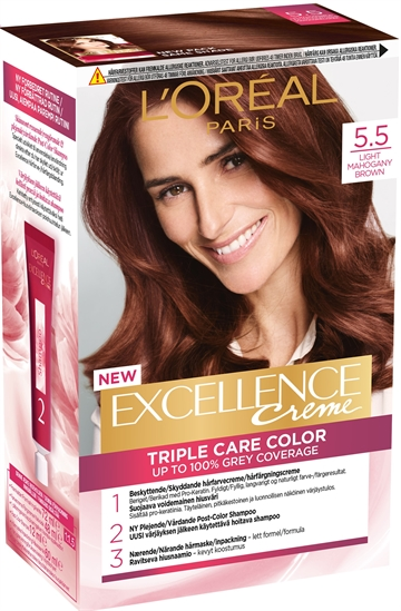 L'Oréal  Excellence 5.5 Light Mahogany Brown 5.5 192ml