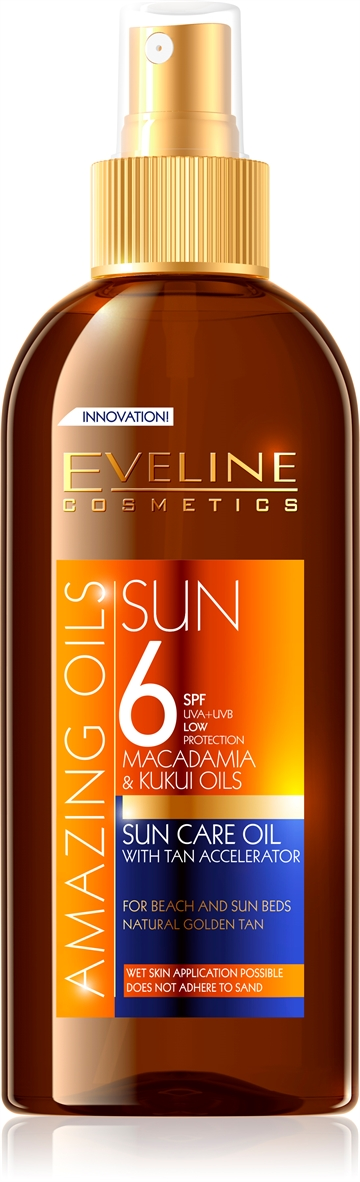 Eveline Amazing Oils Sun Care Oil With Tan Accelerator Spf6 150ml