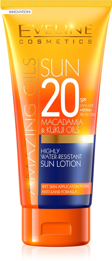 Eveline Amazing Oils Highly Water-Resist. Sun Lotion Spf20 200ml