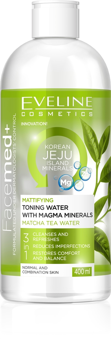 Eveline Facemed+ Mattifying Toning Water With Magma Minerals 400ml