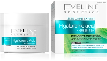 Eveline Hyaluronic Acid + Green Tea Intensely Moisturising  Day/Night Cream 50ml