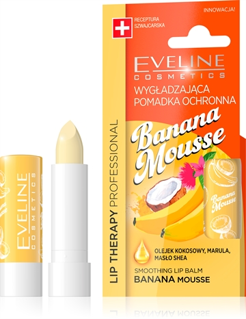 Eveline Lip Therapy Smoothing Balm Banana Mousse