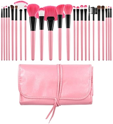 Mimo Makeup Brush Pink 24' Set