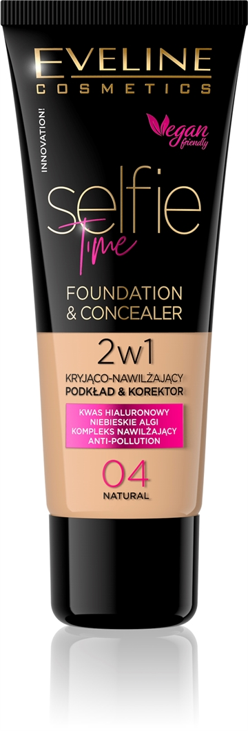 Eveline Selfie Time Foundation & Concealer 04 Natural 30ml