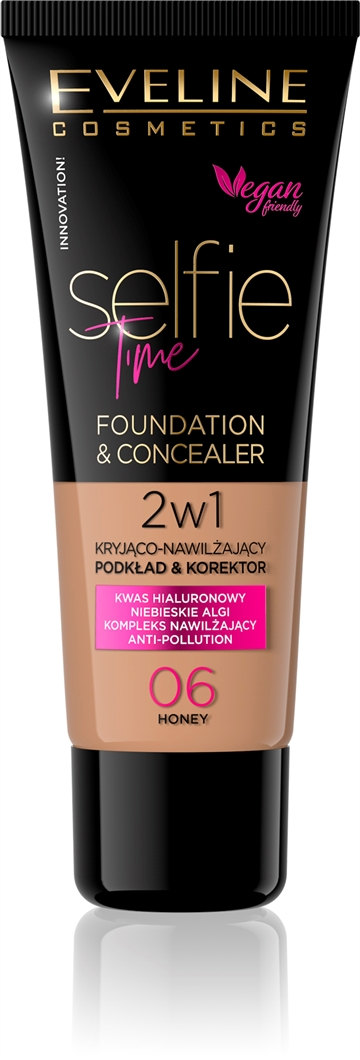 Eveline Selfie Time Foundation & Concealer 06 Honey 30ml