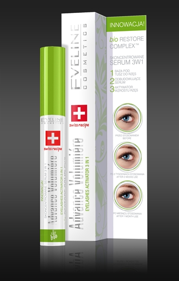 Eveline Advance Volumiere Eyelashes Activator 3In1 Mascara