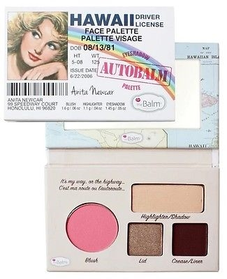 The Balm Autobalm Face Palette 4,15Gr Autobalm Hawaii