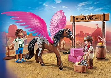 PLAYMOBIL:THE MOVIE Marla and Del with Flying Horse 70074