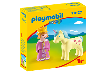 Playmobil 1.2.3 Princess with Unicorn 70127