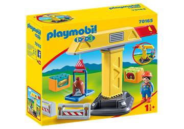 Playmobil 1.2.3 Construction Crane 70165