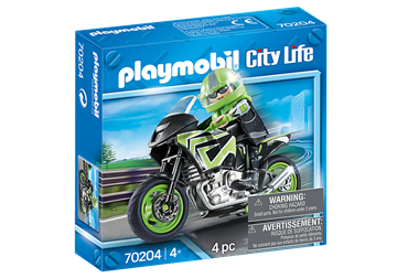 Playmobil City Life Motorcycle with Rider 70204