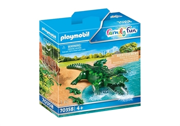 Playmobil Alligator med ungar 70358
