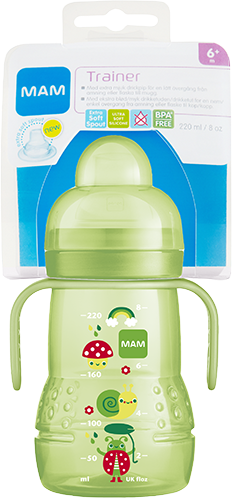 MAM Trainer+ 220ml - Baby Bottle & Cup