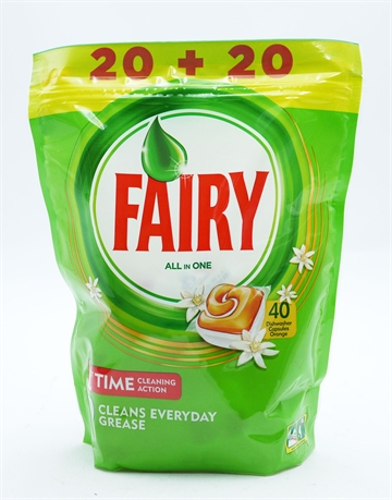 Fairy Dishwash Tabs Plat Orange 20+20 Free  40S