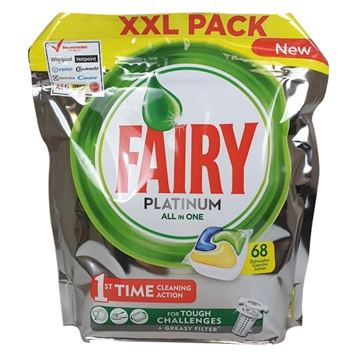 Fairy Dishwasher 68' Platinum Lemon Tabs