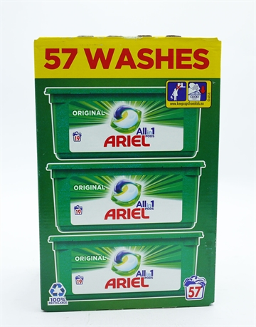 Ariel Original All In One Pods 57 Wash 57'S